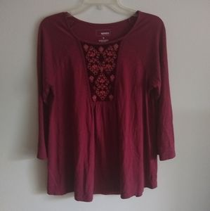 Sonoma 3/4 sleeve tunic top